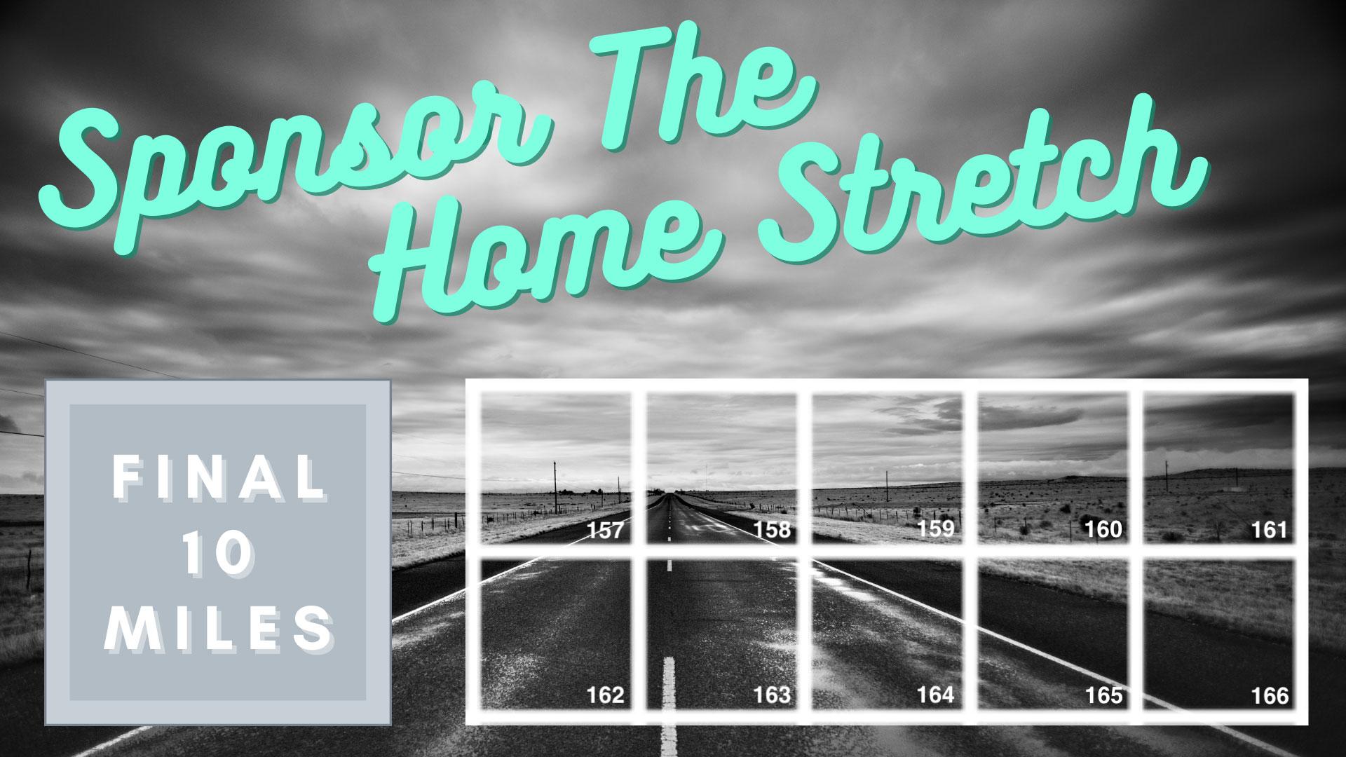 Sponsor the home stretch